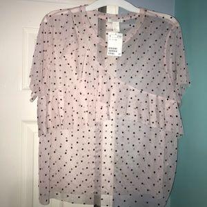 Tulle polka dot blouse